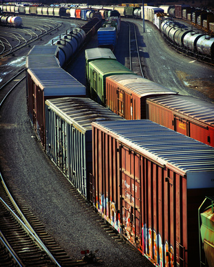 freight shipping services - train yard
